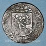 Coins Franche-Comté - Besançon. Co-gouverneurs. Jean Antoine Tinseau. Jeton cuivre 1669