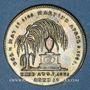 Coins Grande Bretagne. Mort de la reine Caroline. 1821. Jeton laiton