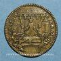 Coins Louis XV (1715-1774). Jeton laiton n. d.