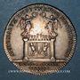 Coins Lyon. Académie Littéraire. Jeton argent 1749