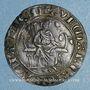 Coins Moyen-âge. Jeton de compte au type de la chaise d'or de Philippe IV