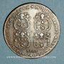 Coins Municipalité de Lyon. Deschamps, Ravachol, Dumarest, Rigod. Jeton cuivre 1747