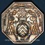 Coins Normandie. Clergé de Rouen. de la Rochefoucauld, archevêque. Jeton argent n. d.