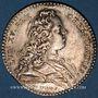 Coins Normandie. Ville de Rouen. Louis XV. Jeton argent