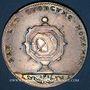Coins Notaires. Lyon. Jeton argent 1715