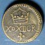 Coins Espagne. Poids monétaire de la quadruple pistole de Charles Quint milieu du XVIIIe