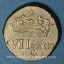 Coins Henri III (1574-1589) à Louis XIV (1643-1715). Poids monétaire du quart d'écu