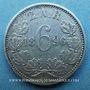Coins Afrique du Sud. République. 6 pence 1896