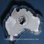 Coins Australie. 1 dollar 2016. Carte de l'Australie - Le grand requin blanc. (1 once. 999 /1000)