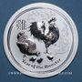 Coins Australie. Elisabeth II (1952- ). 10 dollars 2017 Année du Coq. (10 onces. 999 /1000)