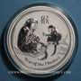 Coins Australie. Elisabeth II (1952- ). 30 dollars 2016. Année du Singe. Poids : 1 kg d'argent fin !