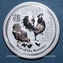 Coins Australie. Elisabeth II (1952- ). 30 dollars 2017 Anné du Coq. Poids : 1 kg d'argent fin !