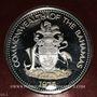 Coins Bahamas. 10 dollars 1975. Anniversaire de l'Indépendance. Argent