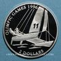 Coins Bahamas. 2 dollars 1995.  (PTL 925/1000. 23,33 g)