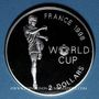 Coins Bahamas. 2 dollars 1997. 16e coupe du Monde de Football - France