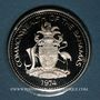 Coins Bahamas. 5 dollars 1974. Argent