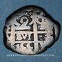 Coins Bolivie. Ferdinand VI (1746-1759). 2 reales 1755. Potosi. Lettre d'essayeur : Q