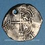 Coins Bolivie. Philippe IV (1621-1665). 2 reales 1656PE-PH. Potosi