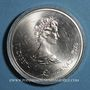 Coins Canada. Elisabeth II (1952- /). 10 dollars 1973, J.O. Montréal. Carte du Monde