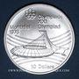 Coins Canada. Elisabeth II (1952- /). 10 dollars 1976. J.O. Montréal. Le stade olympique