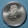 Coins Canada. Elisabeth II (1952- /). 5 dollars 1974. J.O. Montréal. Anneaux Olympiques