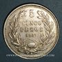 Coins Chili. République. 5 pesos 1927