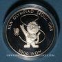Coins Corée du Sud. République. 5000 won 1986. XXIVe Olympiades. Mascotte