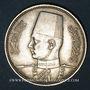 Coins Egypte. Farouk (1355-1372H = 1936-1952). 5 piastres 1358H (= 1939)