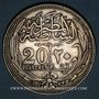 Coins Egypte. Occupation anglaise - Hussein Kamil (1333-1336H = 1914-1917). 20 piastres 1335H (=1917)