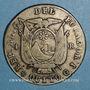 Coins Equateur. République. 4 reales 1857 GJ