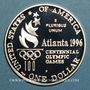 Coins Etats Unis. 1 dollar 1996P Philadelphie. J.O. d'Atlanta, tennis féminin (PTL 900/1000. 26,73 g)