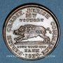 Coins Etats Unis. Hard Times token. Jeton satirique. Running boar, 1834. Cuivre. 28,6 mm
