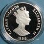Coins Iles Caïmans. Elisabeth II (1952 -). 1 dollar 1996.  (PTL 925/1000. 28,28 g)