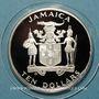 Coins Jamaïque. 10 dollars 1984. (PTL 925/1000. 22,45 g)