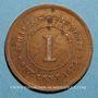 Coins Malaisie. Etablissements des détroits (Straits Settlements). Victoria (1837-1901). 1 cent 1875