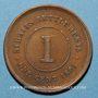 Coins Malaisie. Etablissements des détroits (Straits Settlements). Victoria (1837-1901). 1 cent 1891