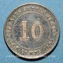 Coins Malaisie. Etablissements des détroits (Straits Settlements). Victoria (1837-1901). 10 cents 1891