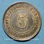 Coins Malaisie. Etablissements des détroits (Straits Settlements). Victoria (1837-1901). 5 cents 1898