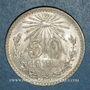 Coins Mexique. 2e République. 50 centavos 1943