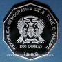 Coins Saint Thomas et Prince. République démocratique. 1000 dobras 1998. Coupe du Monde de Football
