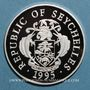 Coins Seychelles. 25 roupies 1995 (PTL 925/1000. 28,28 g)