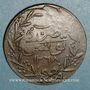 Coins Tunisie. Abdoul Mejid & Muhammad, bey (1272-76H = 1856-60). 1 kharoub contremarqué/ 6 nasri