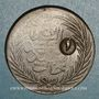 Coins Tunisie. Abdoul Mejid & Muhammad, bey (1272-76H = 1856-60). 1 kharub contremarqué/ 6 nasri