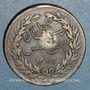 Coins Tunisie. Abdoul Mejid, sultan avec Muhammad, bey (1272-76H = 1856-60) 2 kharub /13 nasri 1272H