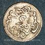 Coins Tunisie. Ottomans. Abdoul Mejid (1255-1277H) avec Muhammad Bey. 2 kharub 1273H. Tunis