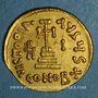 Monnaies Empire byzantin. Héraclius avec Héraclius Constantin et Héracleonas (632-41) Solidus. Constantinople