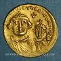 Monnaies Empire byzantin. Héraclius et son fils Héraclius Constantin (613-31). Solidus. Constantinople 616-25