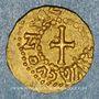 Coins Les Mérovingiens. Metz. GAIVIVA CVON VICO. Trémissis