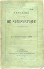 Livres d'occasion Annuaire de la Société Française de Numismatique. Tome 1. 1866