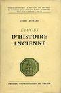 Livres d'occasion Aymard A. -  Etudes d'histoire ancienne